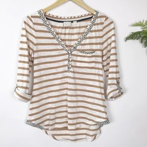 Anthropologie Postmark Striped Knit Top
